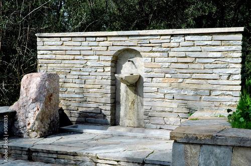 Leinwanddruck Bild basin in a park in athens, greece