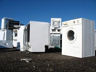 white goods in a dump