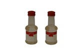 bottles of almond flavouring poster