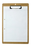blank writing paper on clipboard poster