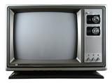 retro television poster