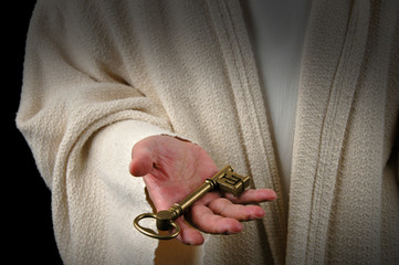 hands of jesus and key