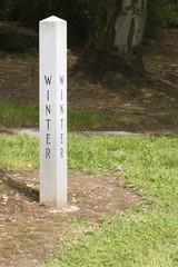 winter garden sign