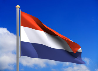 netherlands flag (include clipping path)