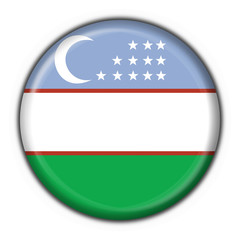 bottone bandiera uzbekistan button flag