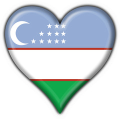 bottone cuore uzbekistan button heart flag