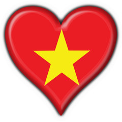 bottone cuore vietnam button heart flag
