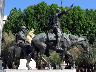 cervantes monument in madrid