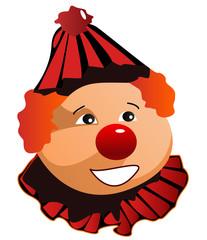 smiling clown in black