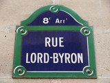 rue lord byron poster
