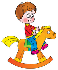 boy on the horse