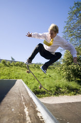 businessman skates