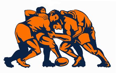 rugby maul orange