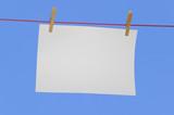 horizontal paper on washing line poster