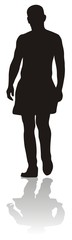 silhouette of man