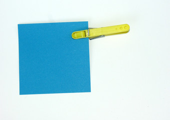 post-it bleu