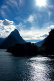 dramatic afternoon scene on milford sound poster