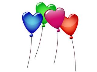ballons de coeur