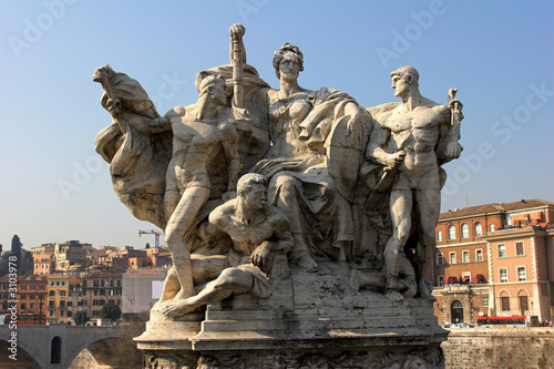 monument on bridge vittorio emanuele ii to vatican