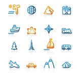 contour travel icons poster