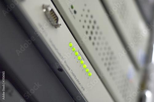 poster of green led lights hosting server switch