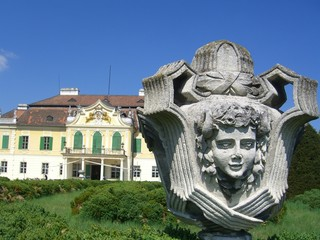 castle with vase, schloss mit vase