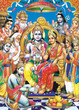 indian god bhagwan ram with whole darbar