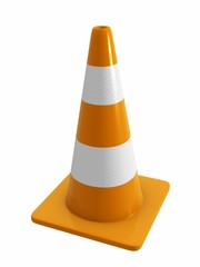 road cone with reflective bands