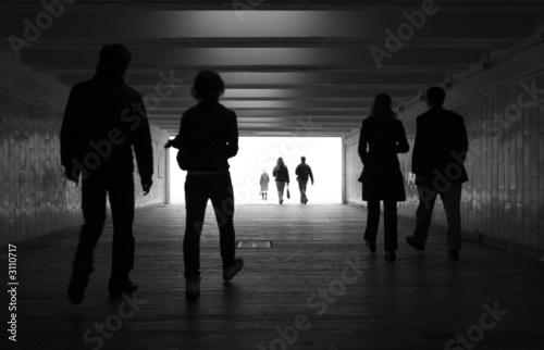 Leinwandbild Motiv people walk