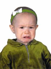 baby crying - yellow