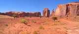 desert with red rocks and ground, monument valley national park,