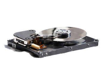hard drive, isolated