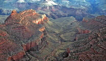 vast grand canyon with colorado river