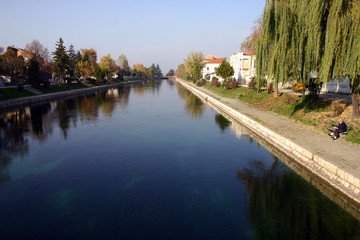 river drim on ohrid  lake