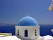 santorini blue dome church
