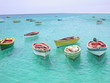 Leinwanddruck Bild - resting boats