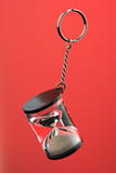 hour glass on a key chain