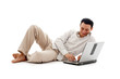 relaxed man with laptop #2