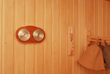 thermometer device in sauna poster