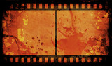 grunge film strip poster