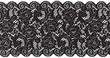 canvas print picture - black lace