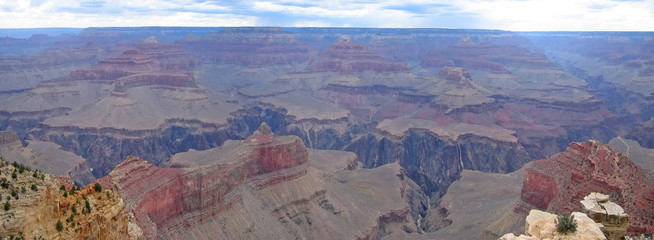 large view over the canyon, grand canyon national park, united s