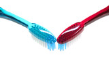 pair of toothbrushes poster