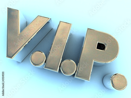 polished metal vip logo