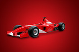 red formula one car poster