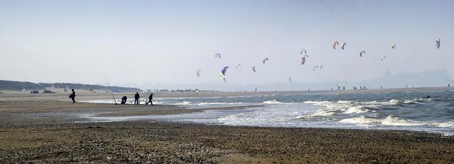 panoramique kitesurf plage