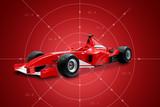 red formula one car-