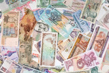 international finance: currencies from around the poster