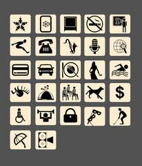 city magazine symbols