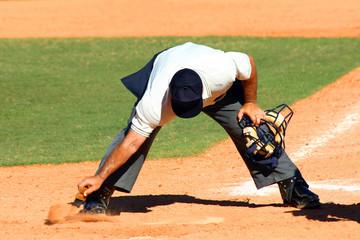 baseball umpire cleaning